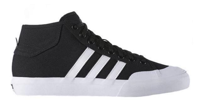 03ad707a181fc Adidas Matchcourt Mid Black White Shoes US 8 Skateboarding