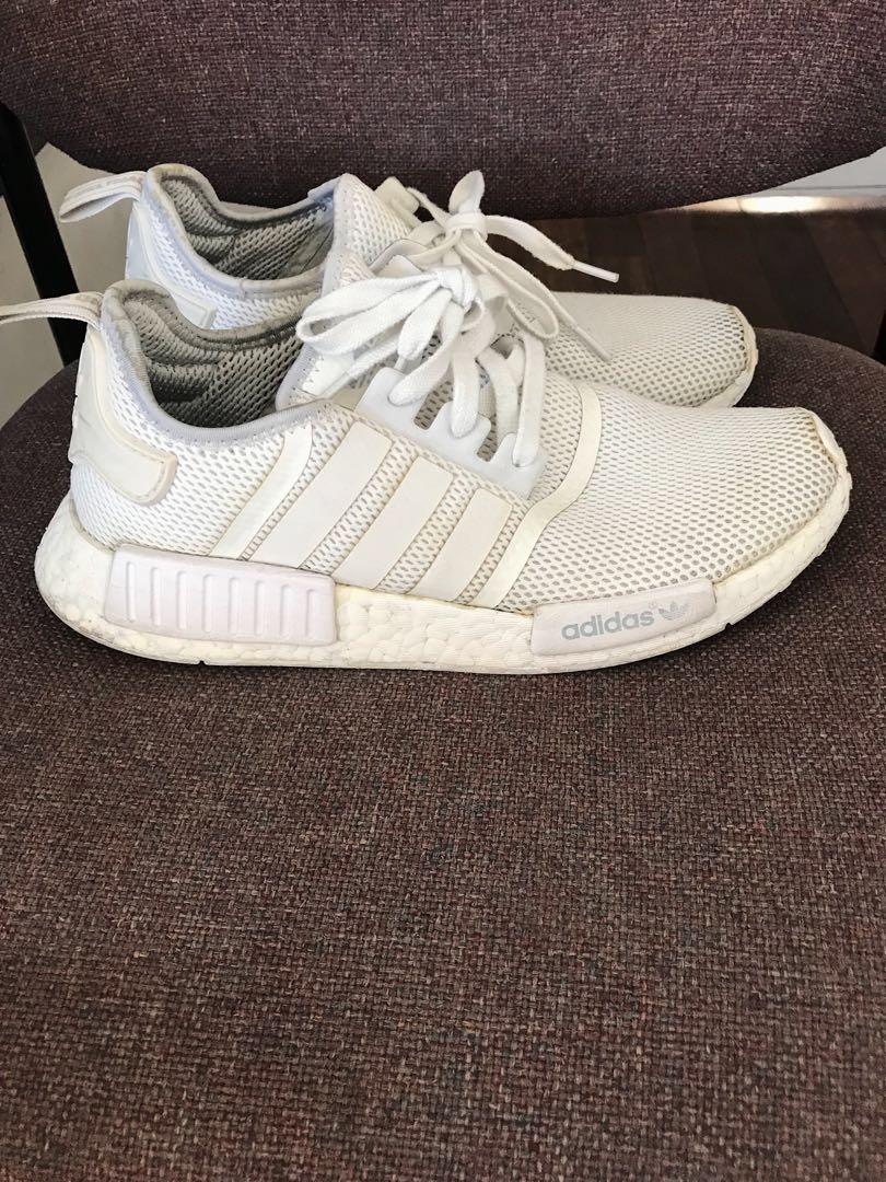 54dc2fd69c93 Adidas NMD R1 mesh triple white