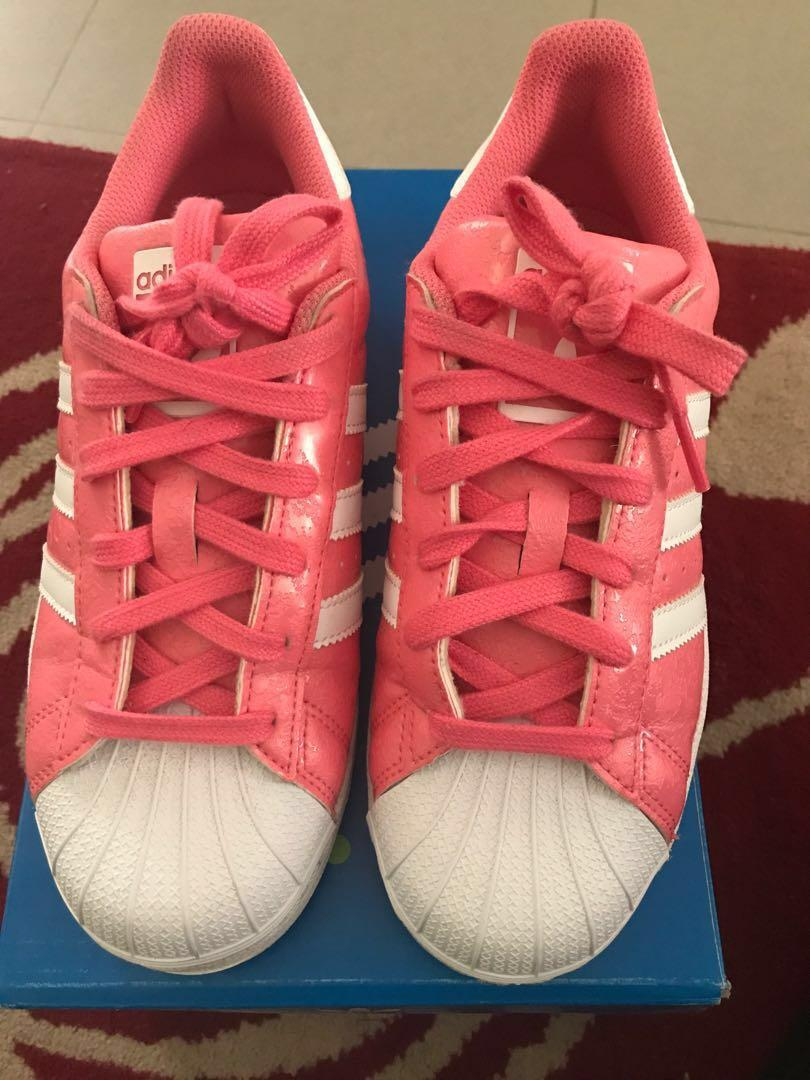 Adidas Superstar Women Pink Shoes US 4 12, Women's Fashion