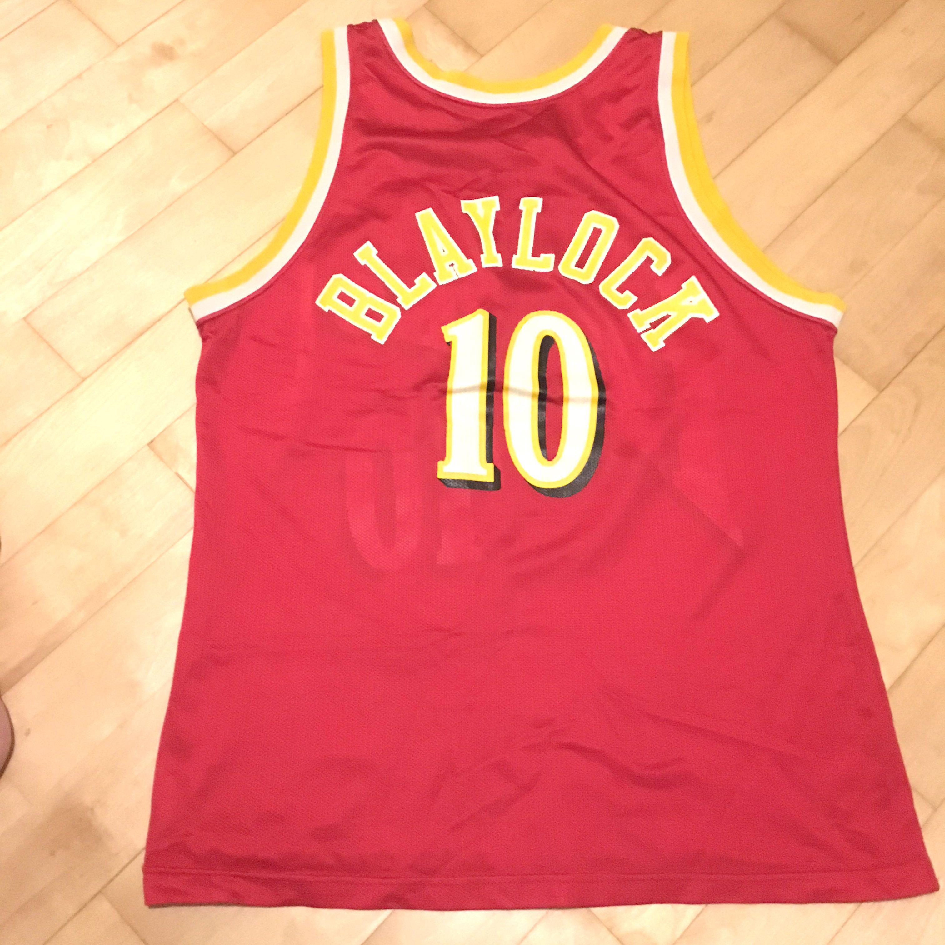 3297a4611c3 Authentic Champion NBA Atlanta Hawks Mookie Blaylock Jersey
