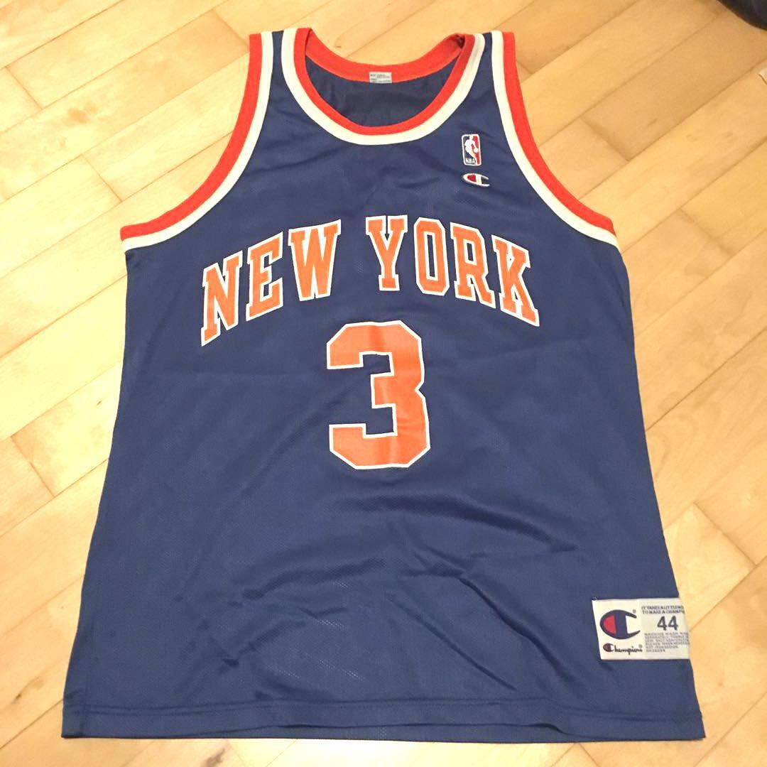 hot sale online 8b5c4 1f02f Authentic Champion NBA John Starks New York Knicks Jersey ...