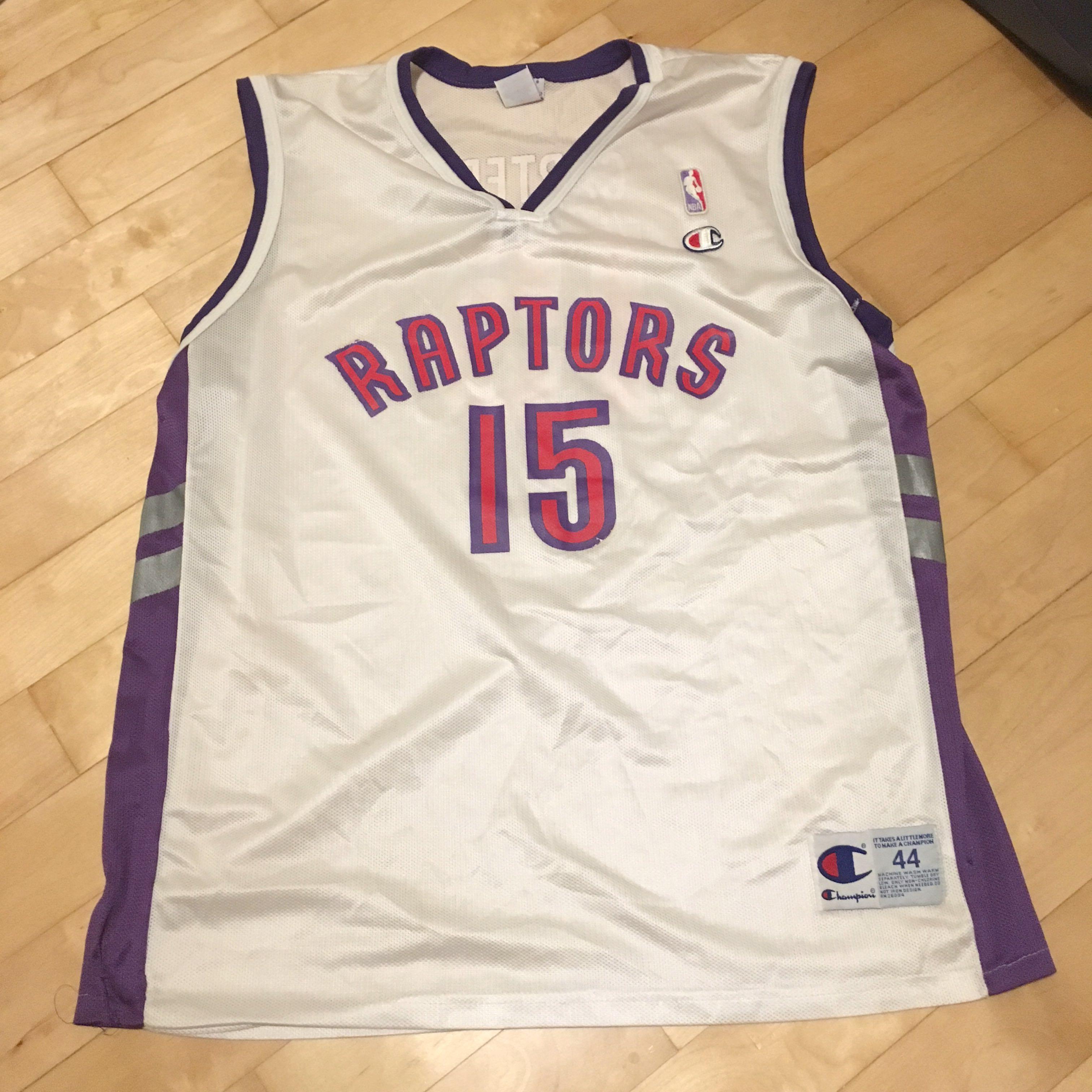 reputable site be900 af4ac Authentic Champion NBA Vince Carter Toronto Raptors Jersey ...