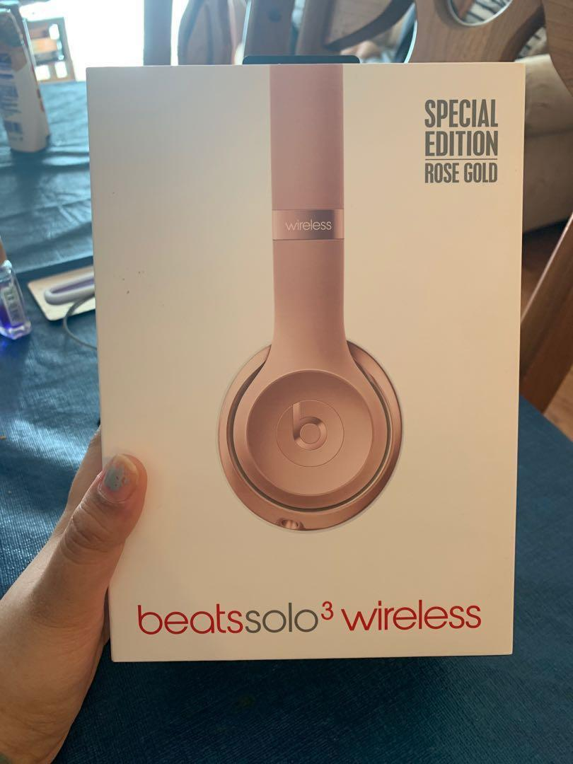 Beats solo 3 wireless headphones special edition - rose gold