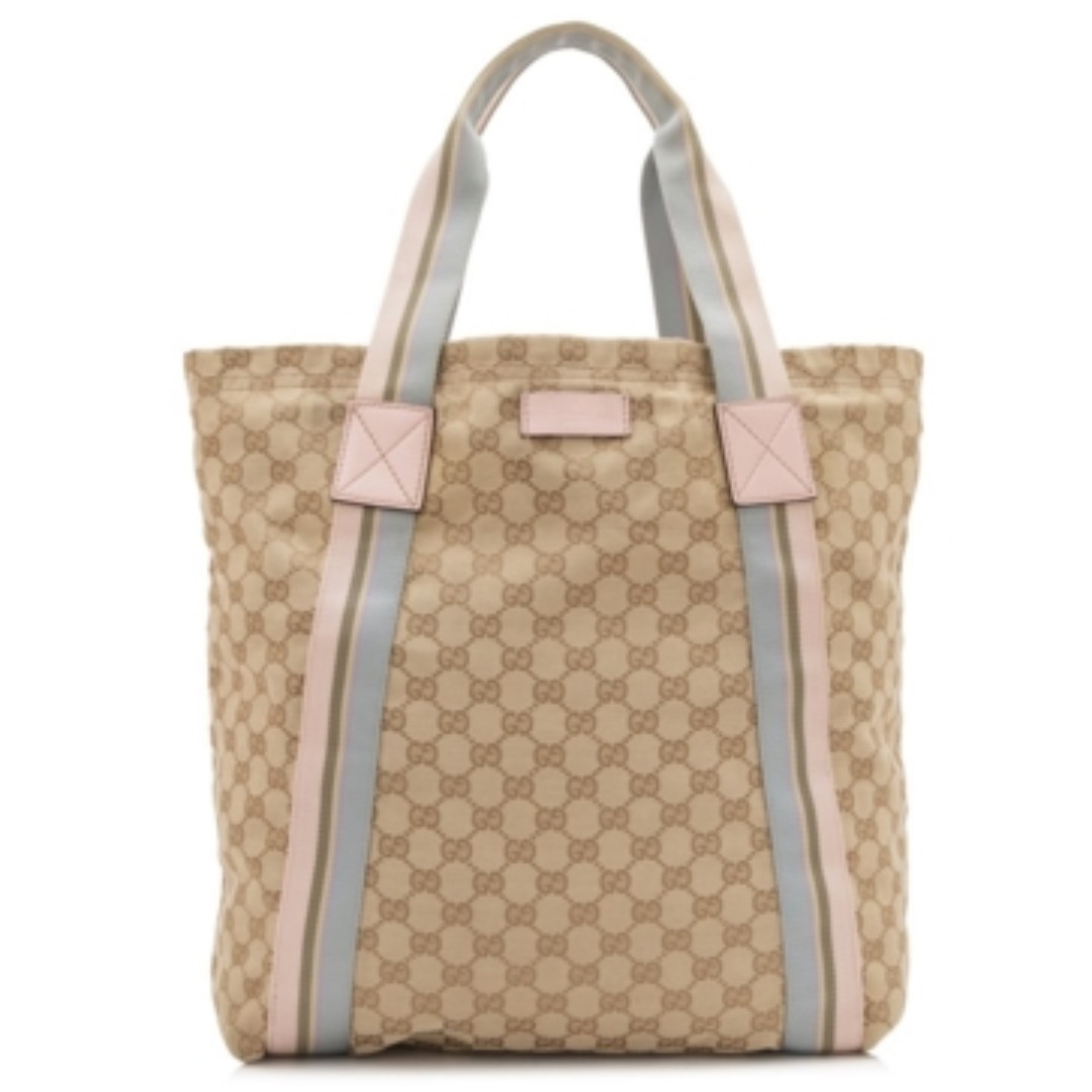 bf329585860 Beige Pink Gucci Canvas Large Tote Bag