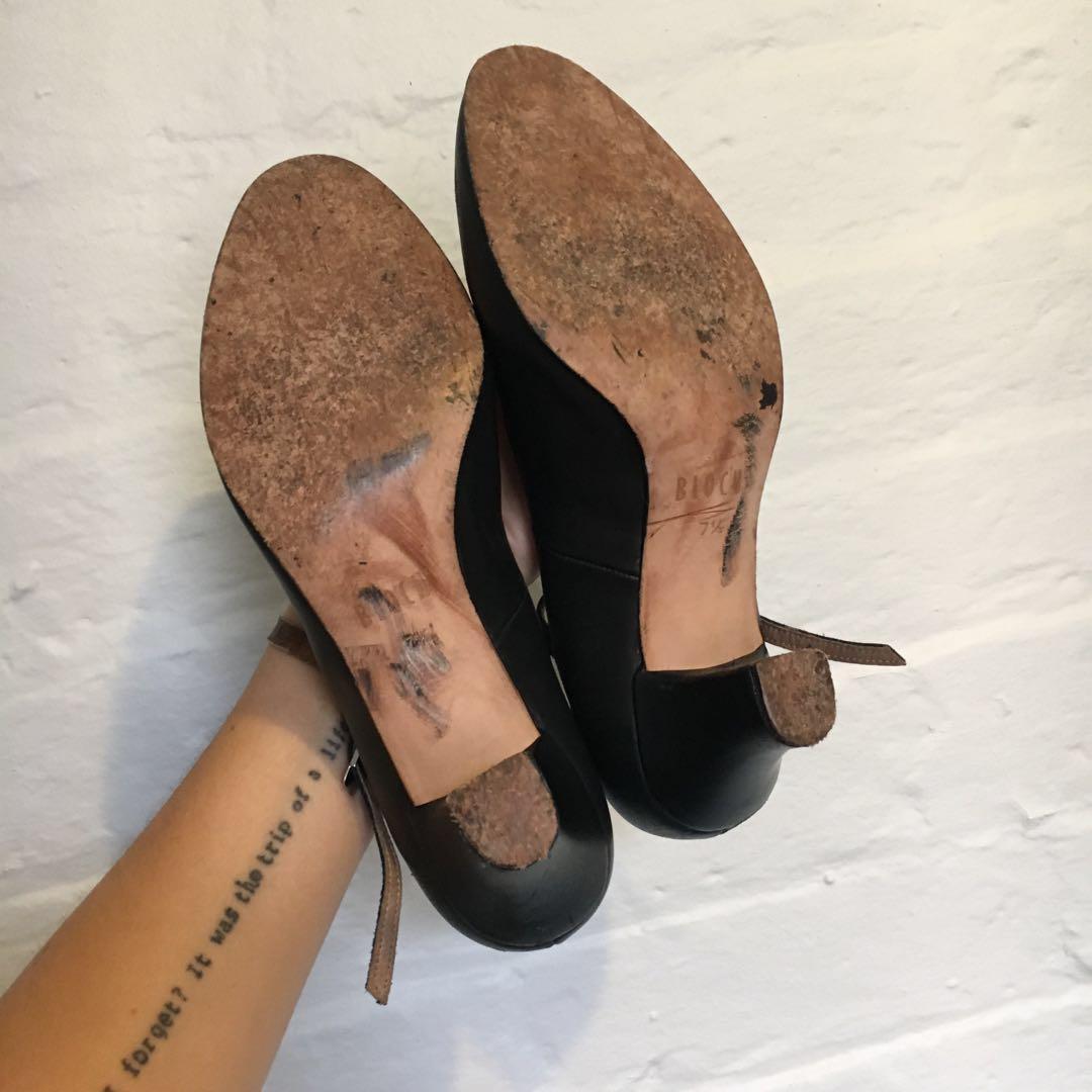 Bloch Contemporary Black Dance Shoes   Genuine Leather