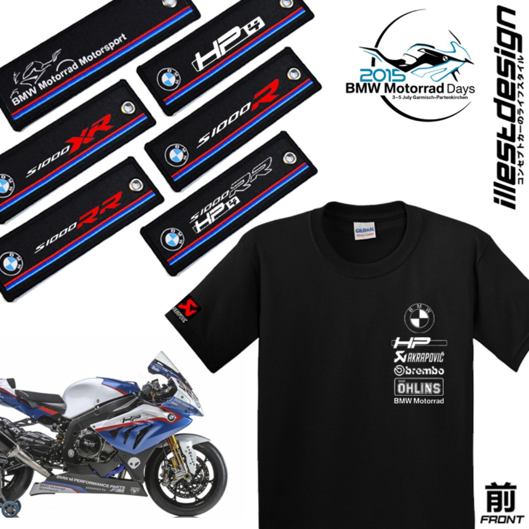 Bmw Motorrad Motorsport Hp4 S1000rr S1000r Key Chain Keychain Keyring Ring Embroidery Racing Tag