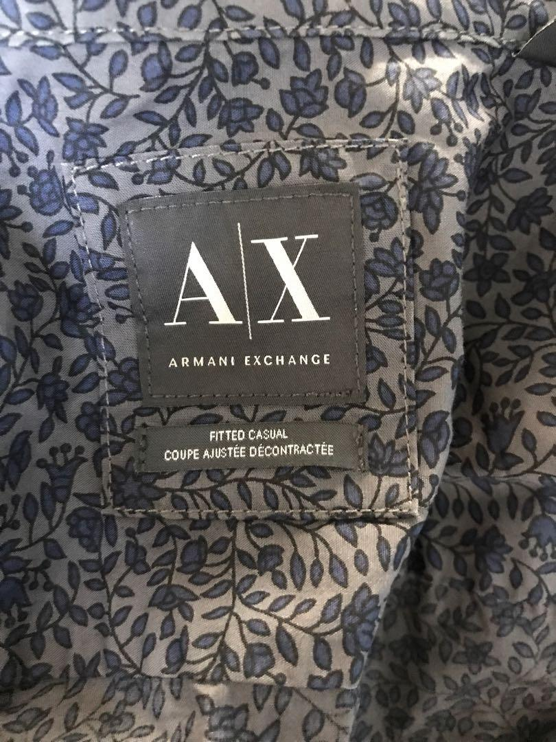 BNWT men's AX Armani exchange patterned shirt size small