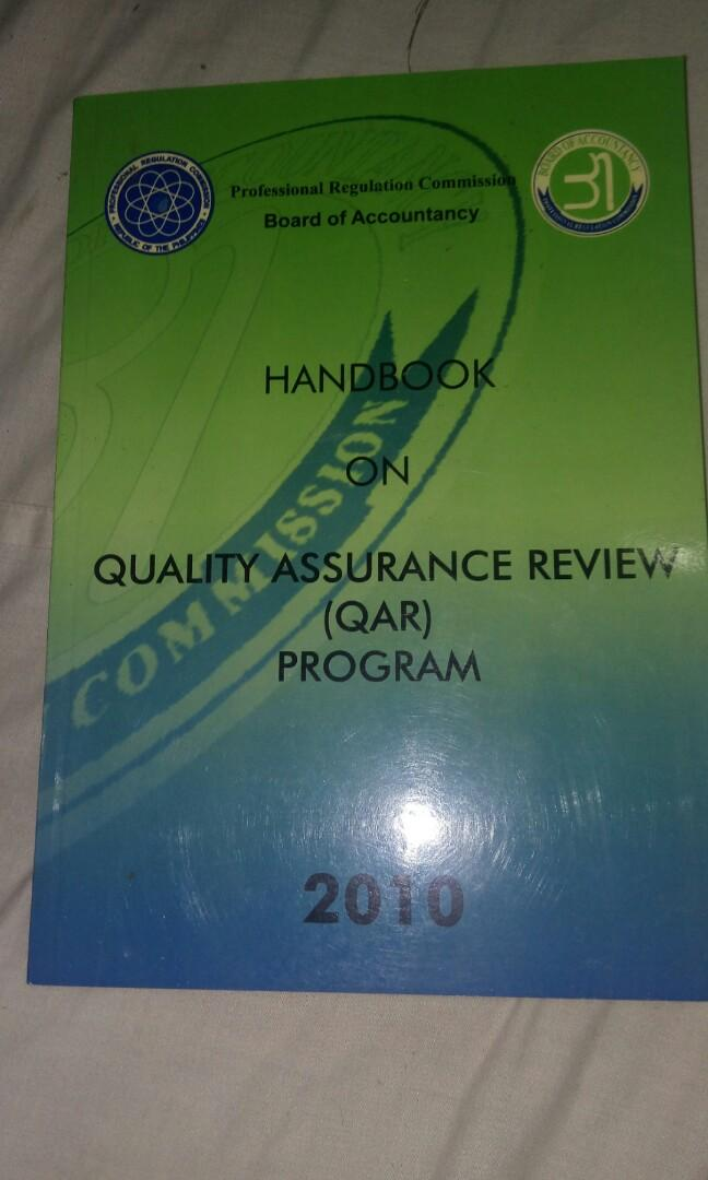 Board of accountancy handbook on quality assurance review