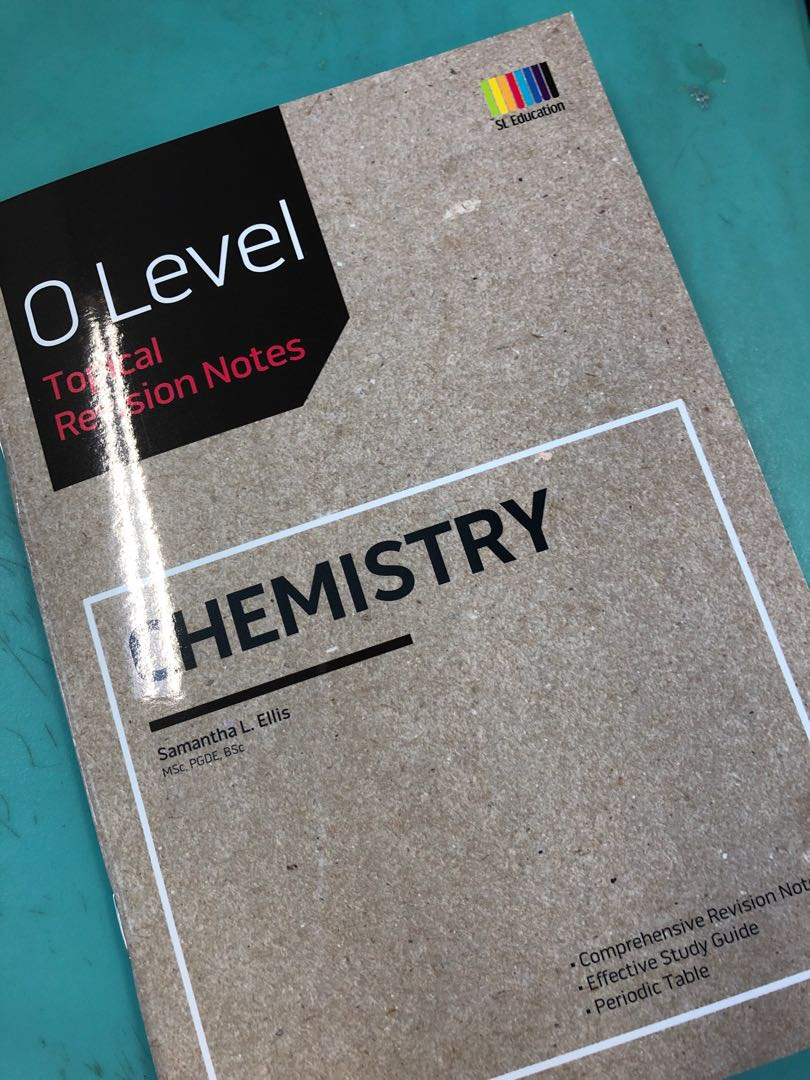 BRAnd NEW SHIN LEE O LEVEL chemistry topical revision notes