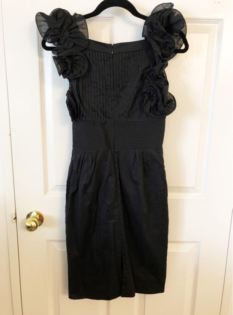 Catherine Melandrino Ruffle Cocktail Dress  Size 2