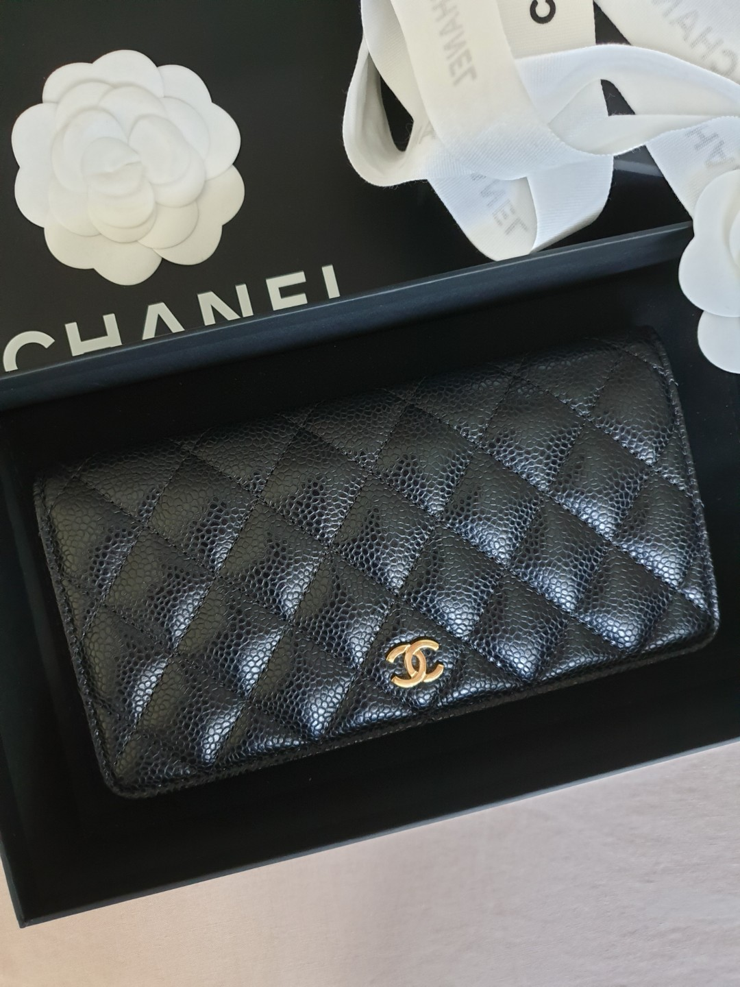22a3a75b3d9f Chanel Long Wallet, Luxury, Bags & Wallets, Wallets on Carousell