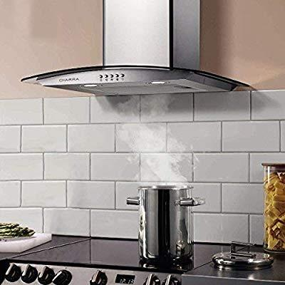 Curved Stainless Steel Chimney Hoods
