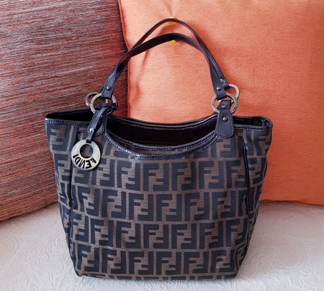 b3cfb0e566c94a FENDI Zucca Monogram Tote/Shoulder Bag, Luxury, Bags & Wallets ...