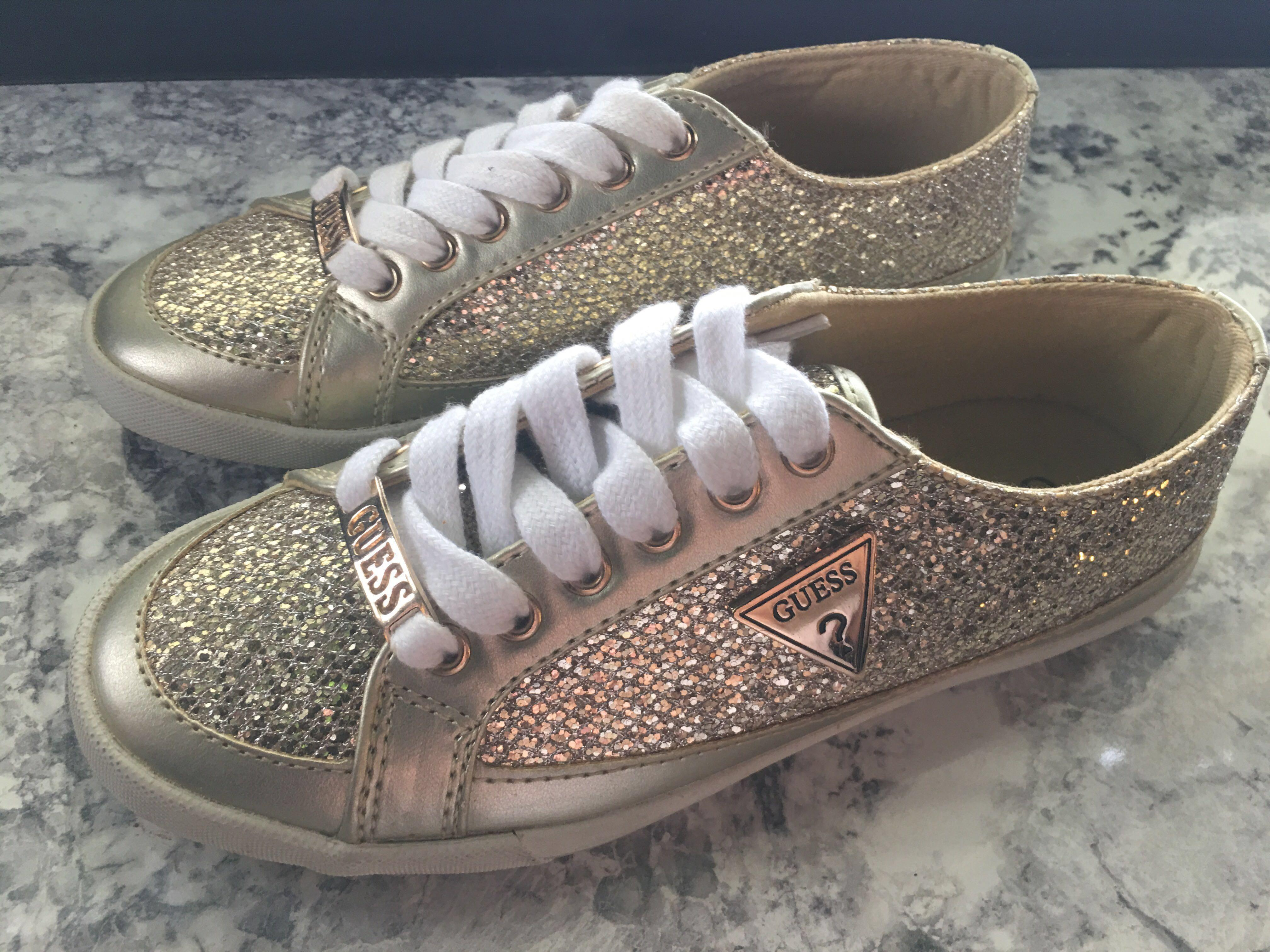 Guess gold blink sneakers Size US5/ UK3