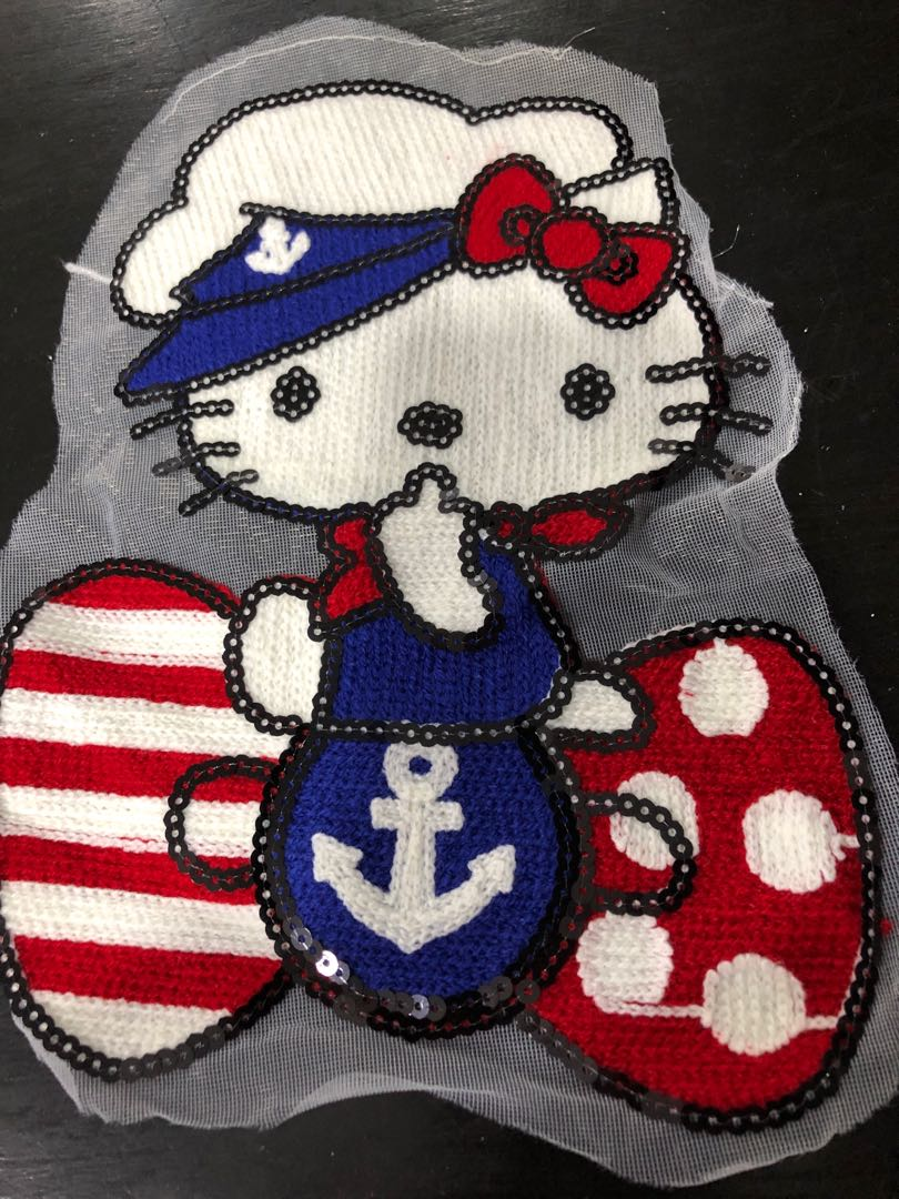 a26811b03 Hello Kitty Sailor Sew On / Hot Glue On, Design & Craft, Others on ...