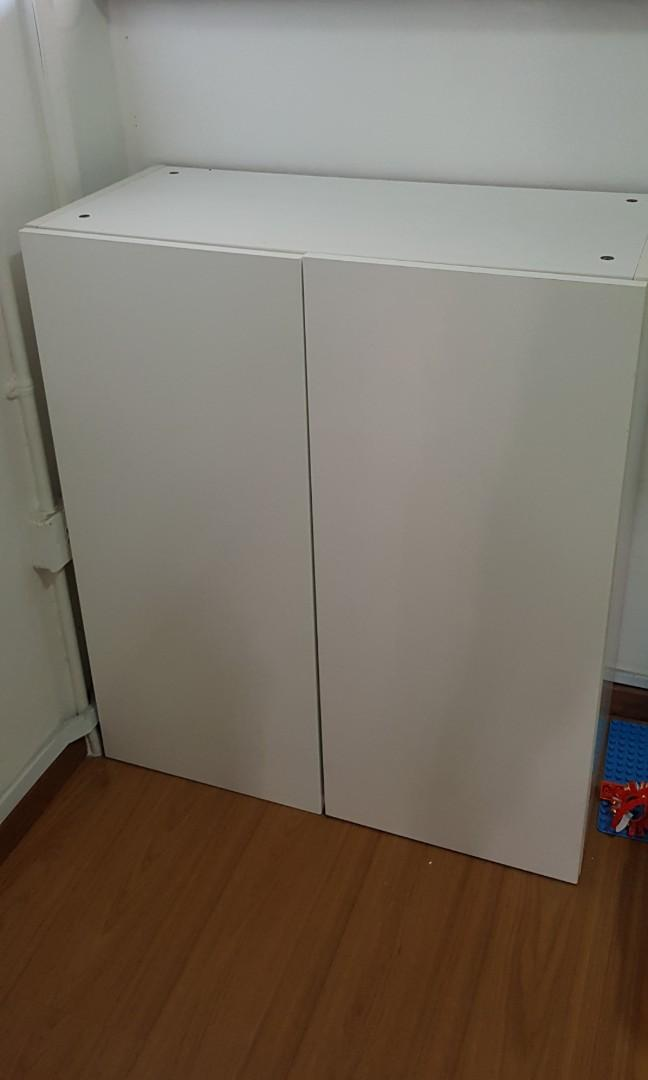 IKEA besta cabinet /shelving (white), Furniture, Others on