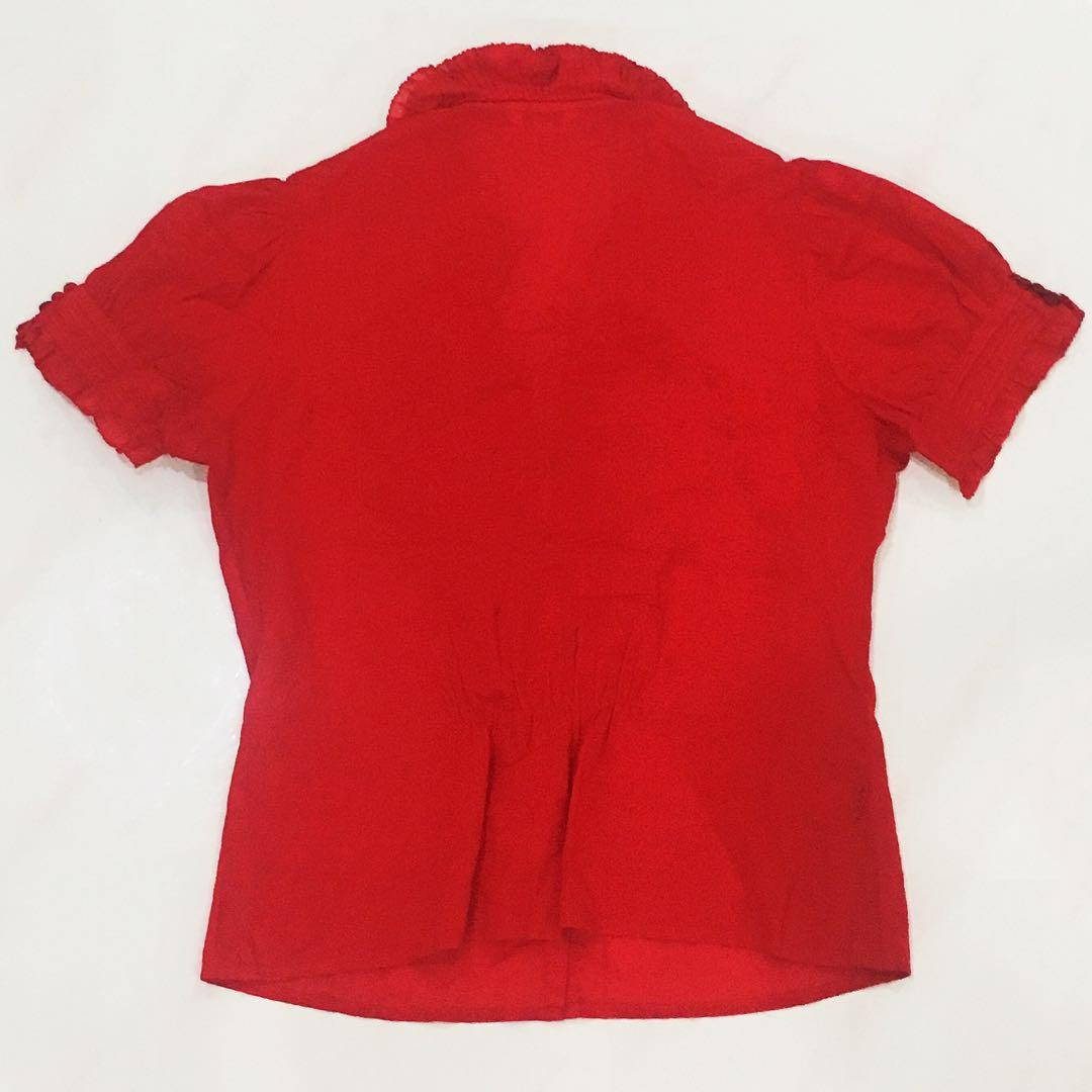 Intend Red Blouse