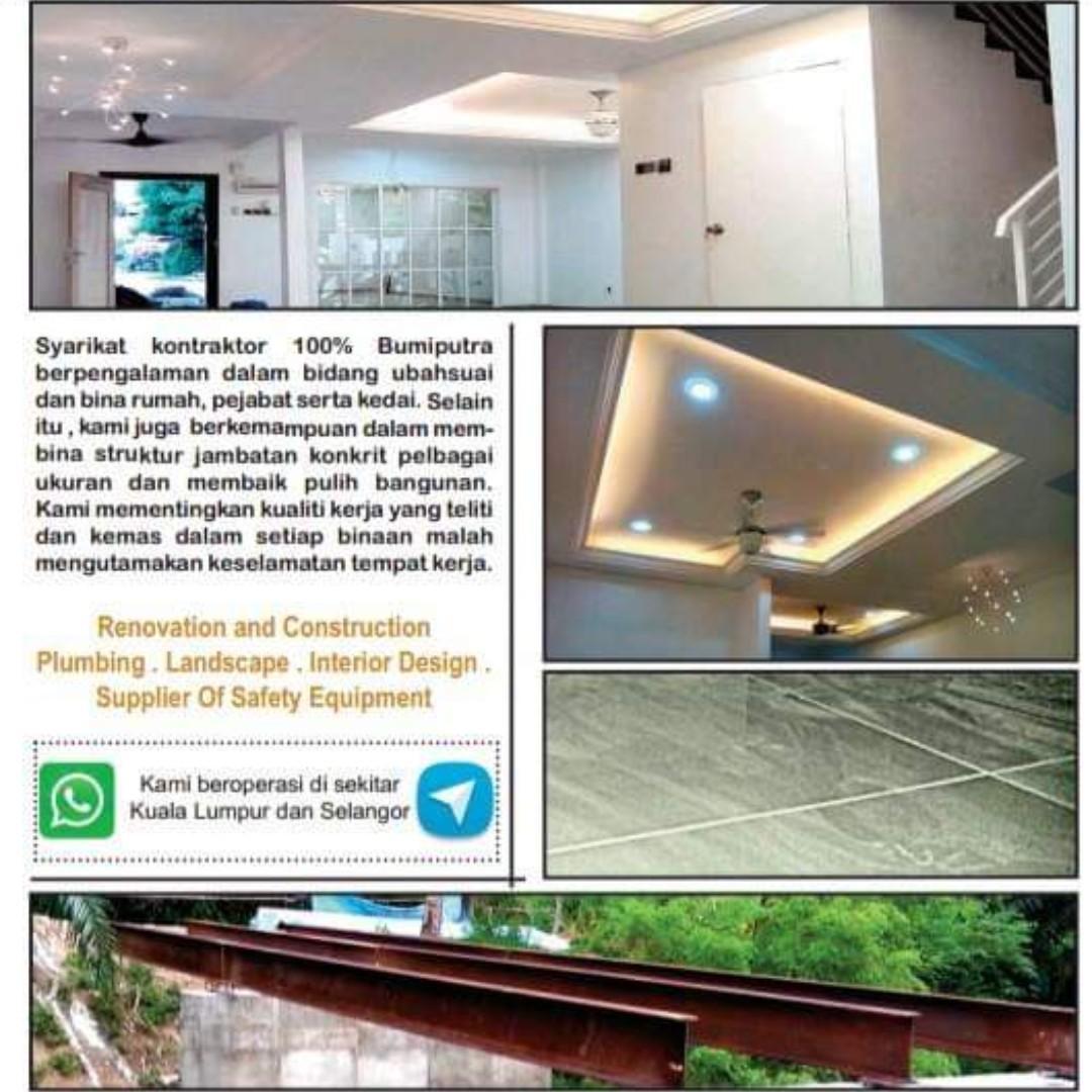 Kontraktor Binaan Dan Renovasi Home Furniture Home Decor On Carousell