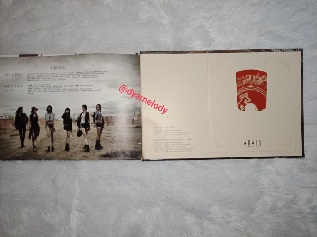 K-pop Album T-ara Again Signed All Member ( Tanda Tangan Asli)