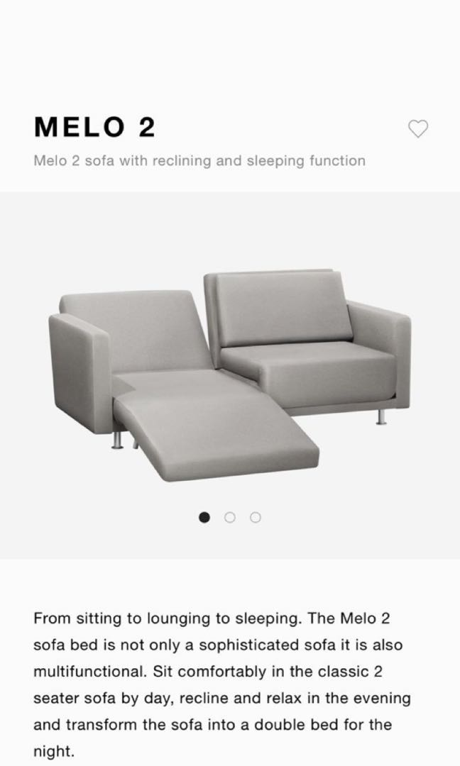 Like New Bo Concept Sofa Bed For Sale