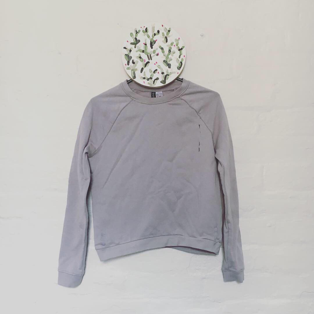 Lilac Lavender Crew Neck Sweater   Super Soft Jumper