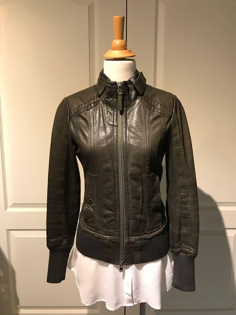 Mackage (Aritzia exclusive) leather jacket - Elie - gunmetal grey, xs