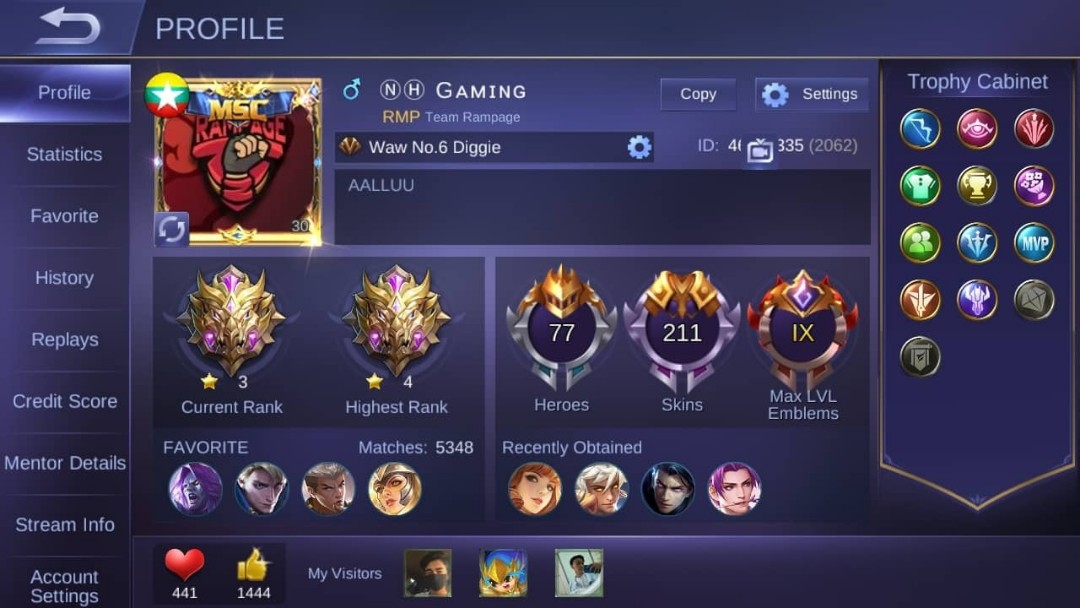 Mobile Legend Account, Toys & Games, Video Gaming, Others on