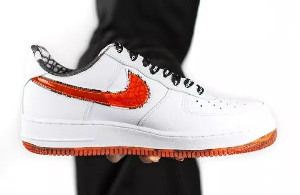 Nike Air Force 1 Low AF1 White Red Comic Shoes, Men's
