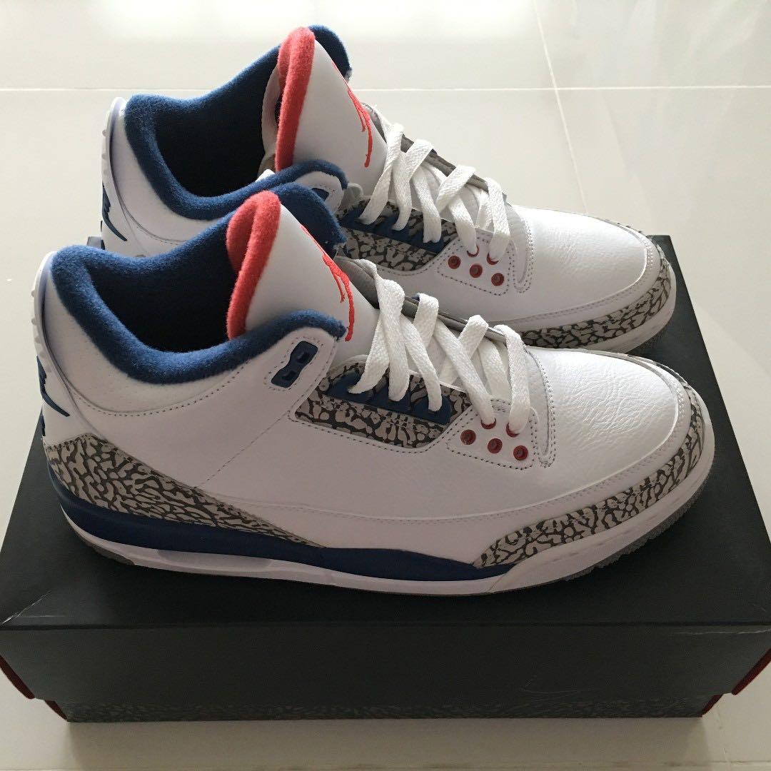 ea2de9154c3 Nike Air Jordan 3 Retro OG True Blue Genuine Brand New, Women's ...