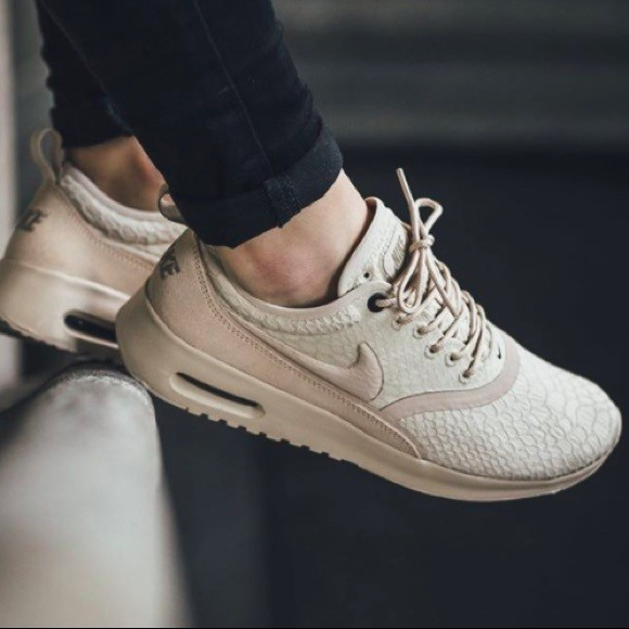 sneakers for cheap 704fb 633ec Nike Air Max Thea oatmeal, Women s Fashion, Shoes, Sneakers on Carousell