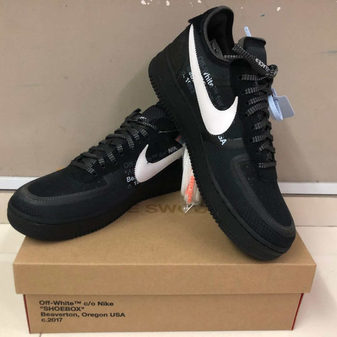 new arrival bff3a d999b Nike x Off White AF1 Low Black, Men s Fashion, Footwear, Sneakers on ...