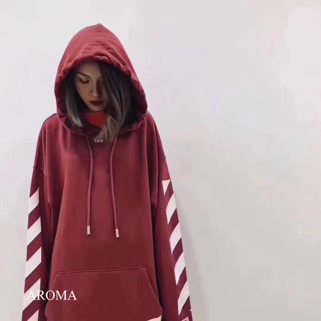 Off white arrow hoodie red