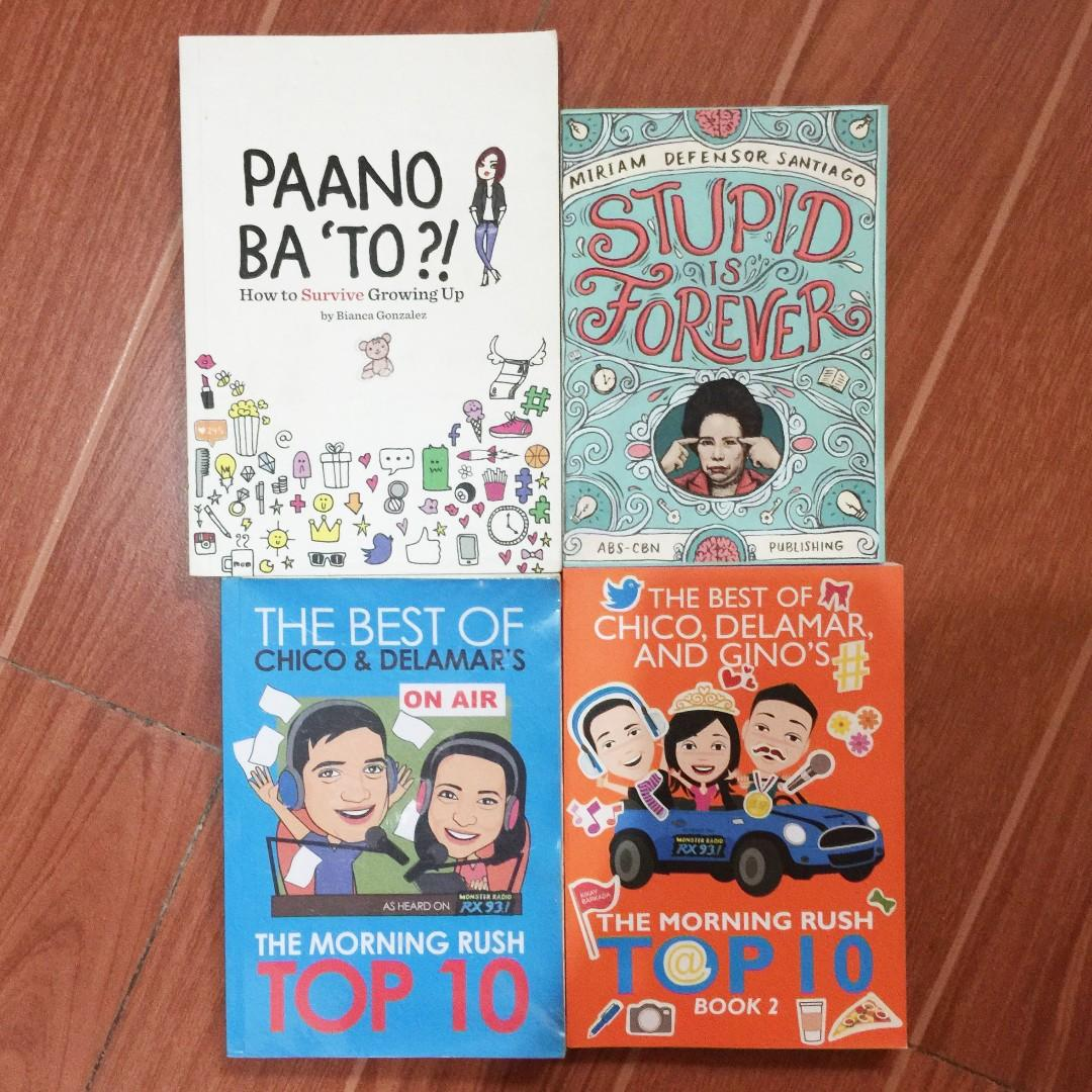 Paano Ba 'To By Bianca Gonzalez / Stupid is Forever by Miriam Defensor Santiago / The Best of Chico & Delamar's 1 & 2