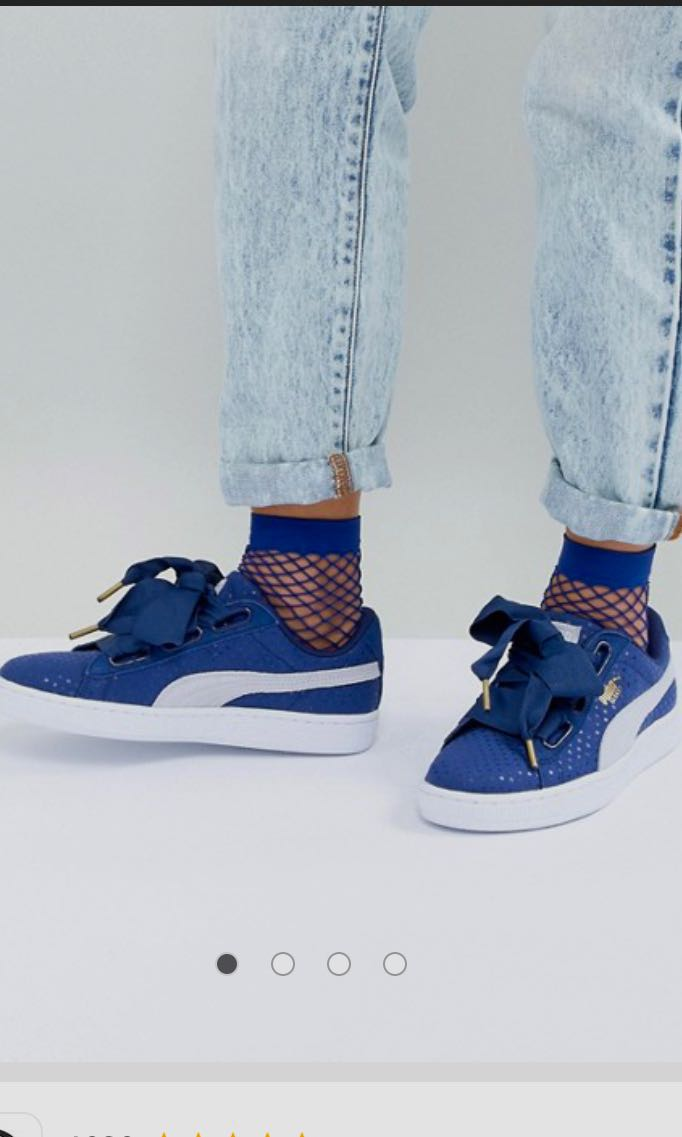official photos 95770 233ab Puma Basket Heart in Twilight Blue
