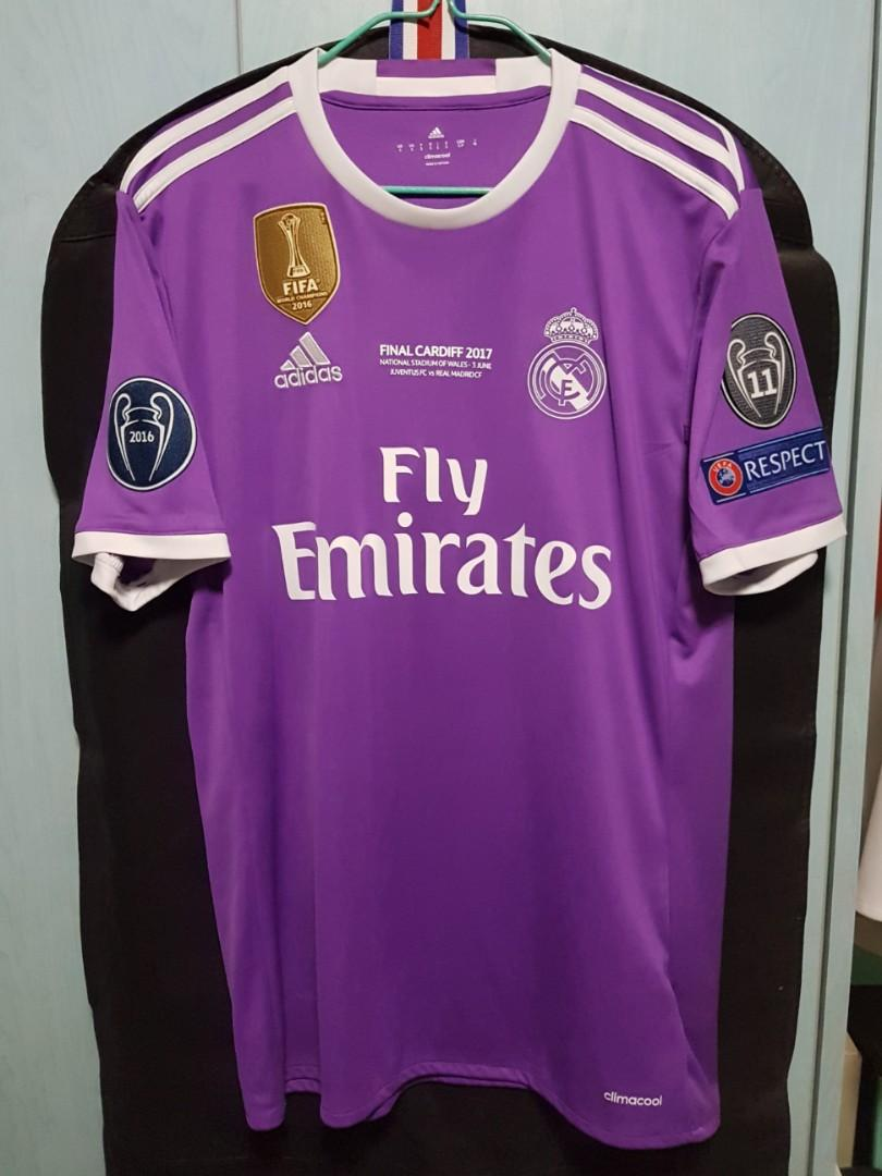 competitive price 014a4 638dc Real Madrid 2016/17 Away UEFA Champions League Final Jersey ...