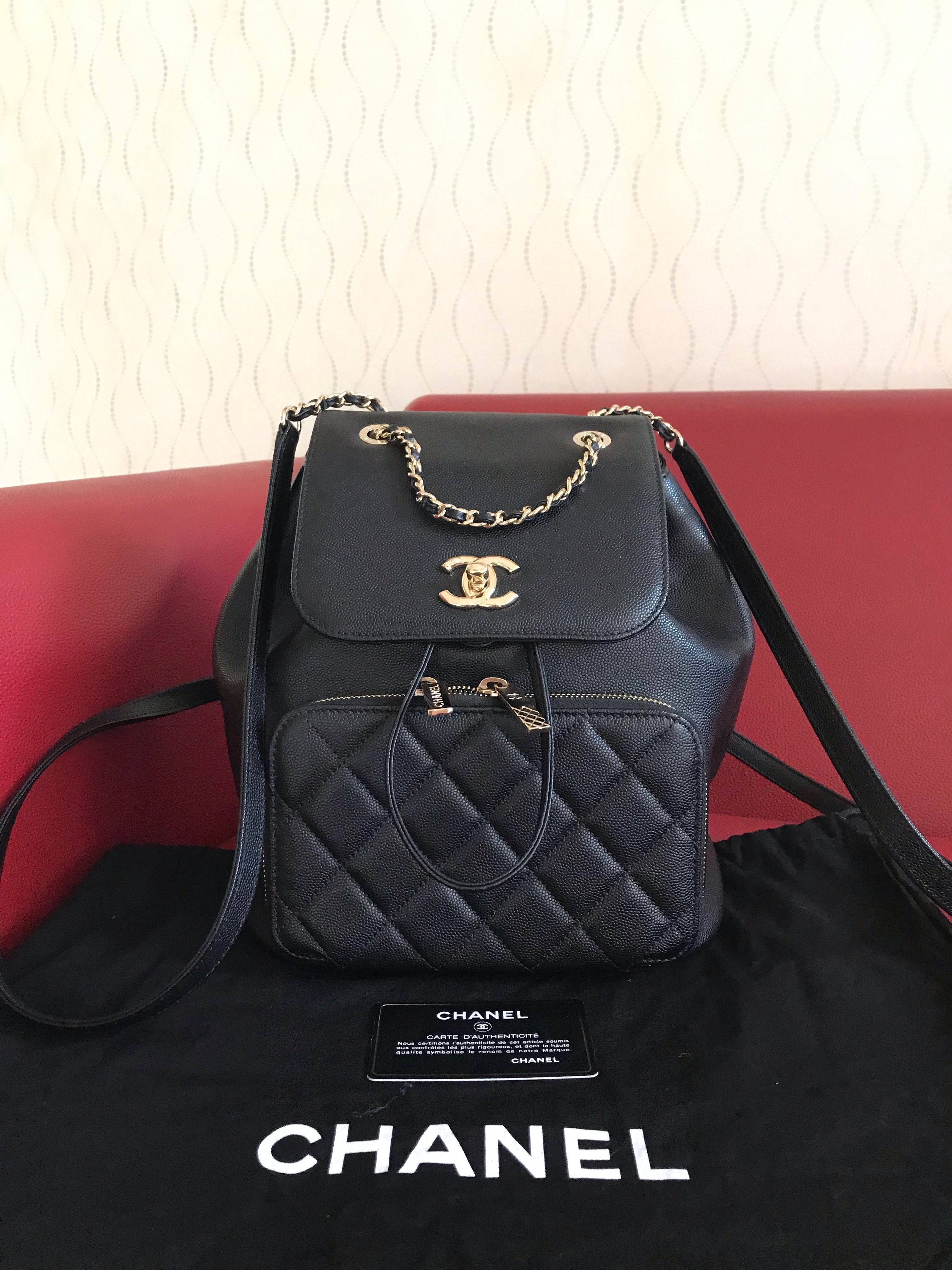 7f99a01a3937 RESERVED Chanel afinity backpack black caviar ghw   24