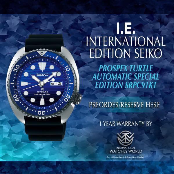 6dcfbffb6a9 SEIKO INTERNATIONAL EDITION PROSPEX TURTLE AUTOMATIC SAVE THE OCEAN ...