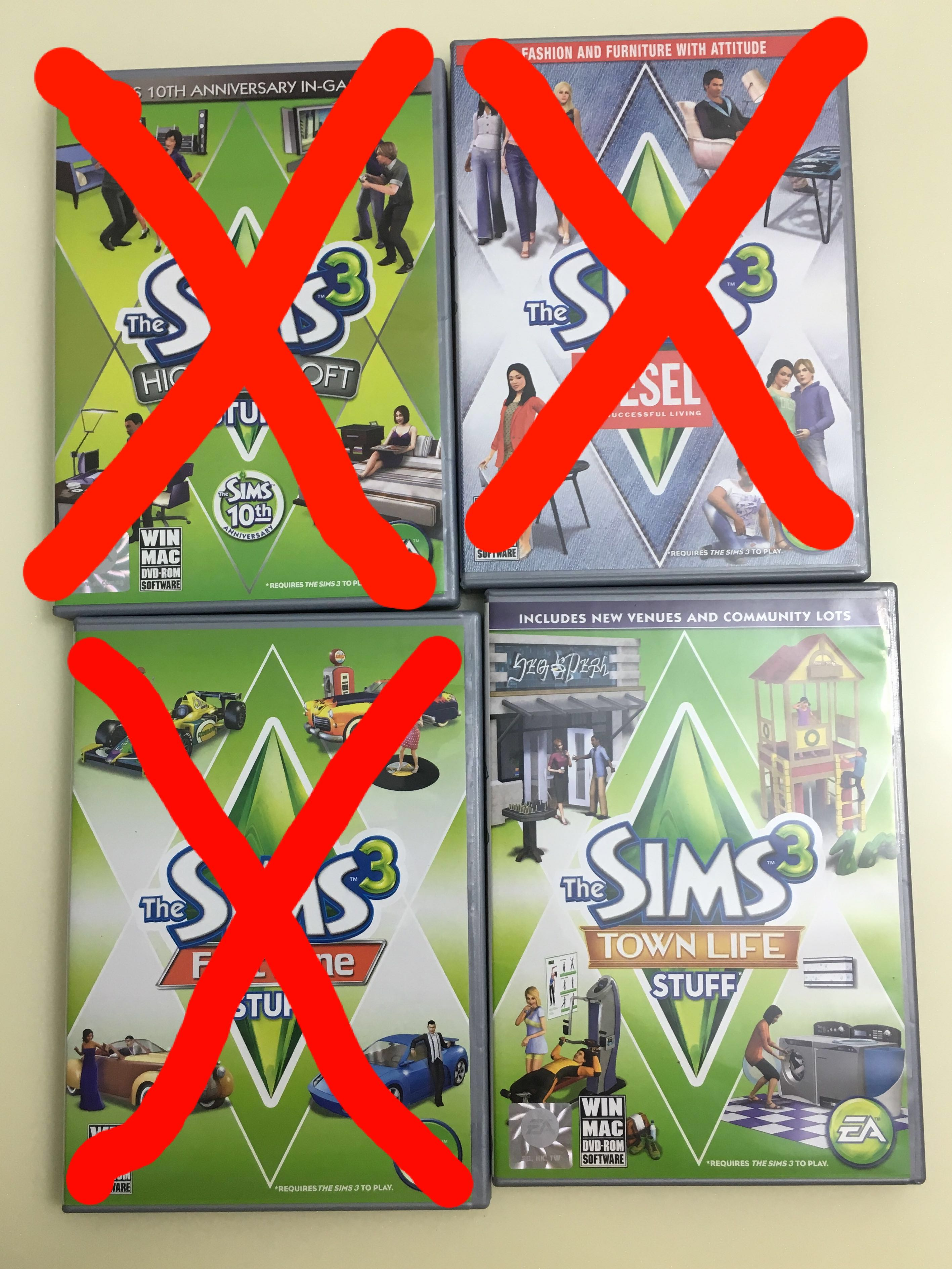 Sims 3 Stuff Pack, Toys & Games, Video Gaming, Video Games on Carousell
