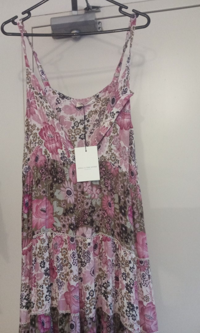 7fc80ef9e06 Spell and The Gypsy desert daisy maxi dress in lilac- xxs
