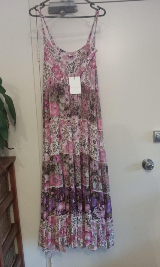 Spell and The Gypsy desert daisy maxi dress in lilac- xxs