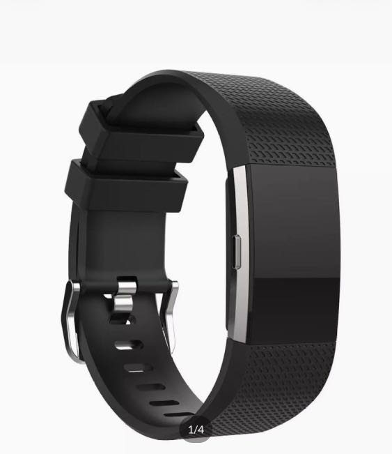 Strap - Fitbit Charge 2 Strap Band Silicone Adjustable - Black