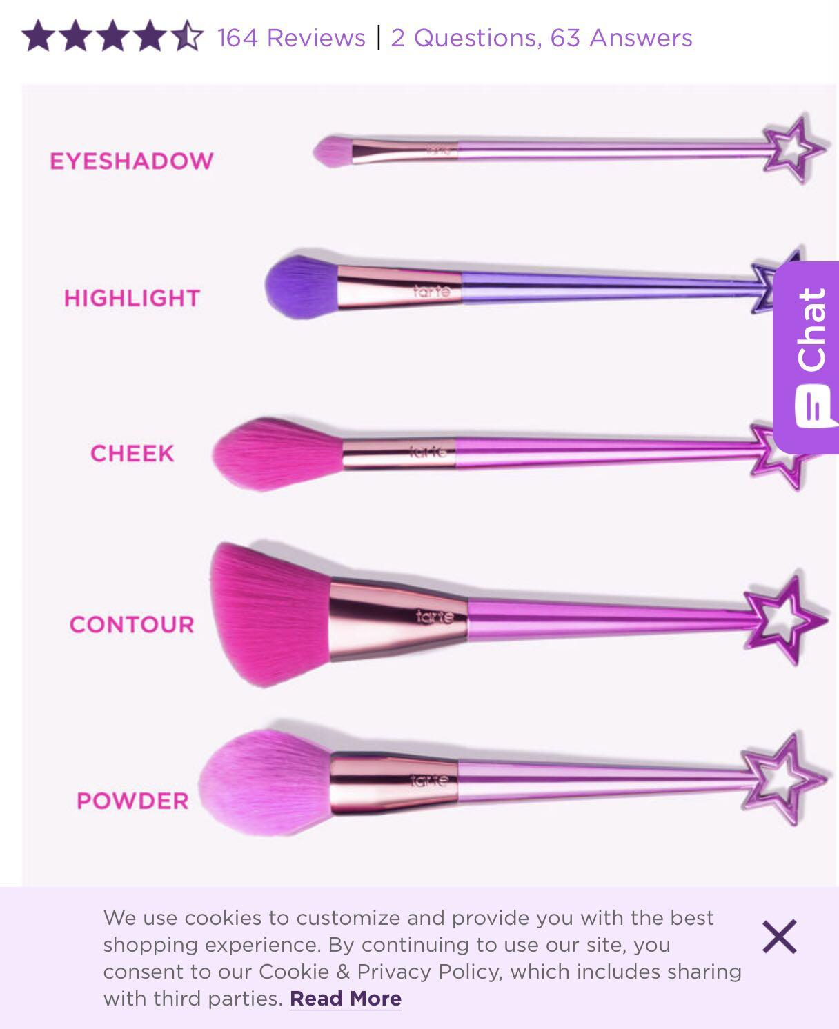 Tarte pretty things and fairy wings brush