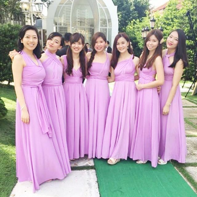 40e0d7d142 Twenty3 Marilyn Convertible Bridesmaid Dinner Long Maxi Dress Lilac Purple  Size S
