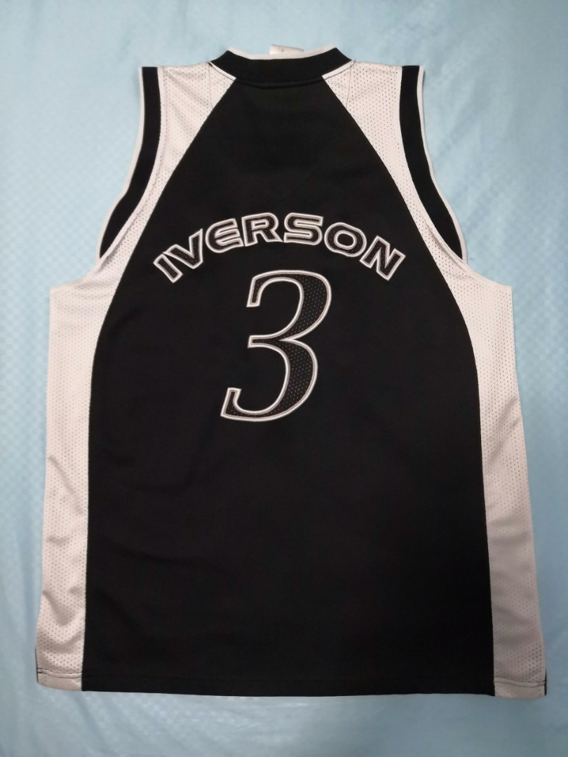 4fcceafb484 Vintage Reebok Limited Edition B&W Allen Iverson I3 Basketball Jersey Set,  Sports, Sports Apparel on Carousell