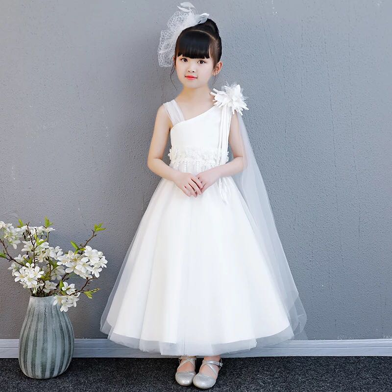 6a05ddb92d63 White Dress Flower girl dress Princess Dress, Babies & Kids, Girls ...