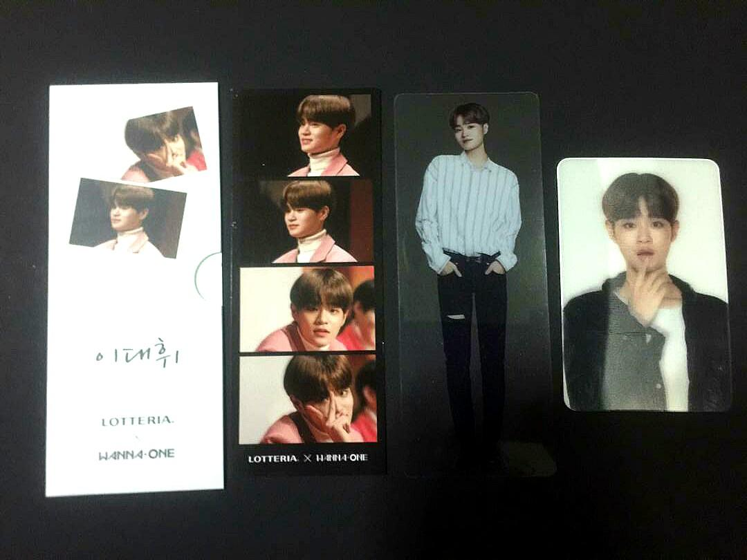 [RS!](PRICE REDUCED)Wanna One/AB6IX Lee Daehwi LOTTERIA Limited Edition Set Photocards