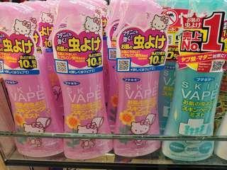 限量😍日本VAPE SKIN驅蚊防蚊噴霧 蚊怕水