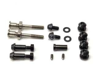 🚚 (Z3) 2018 Titanium Brake Caliper Bolts Set (Black) for Brompton
