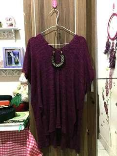 Outer blouse knit