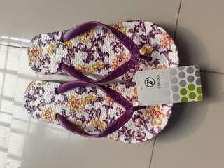 Sandal ungu jelly glass lakoka